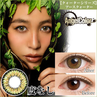 AngelColor QUARTER VISION 1ヶ月 14.0mm(度なし/1箱2枚入)