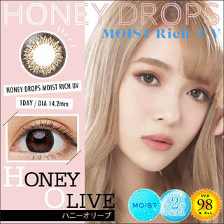 HONEY DROPS MOIST Rich UV 1day 14.5mm (1箱10枚入)