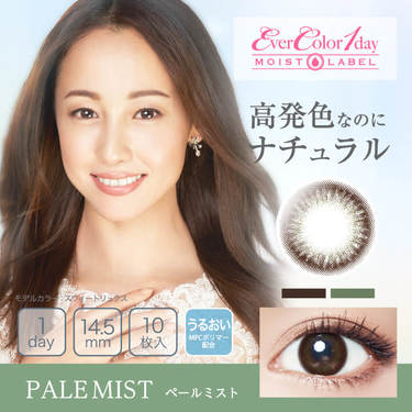 EverColor1day MOIST LABEL ペールミスト 1箱10枚入り×6箱セット